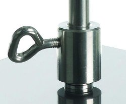 Retort stand base coupling / rod adapter