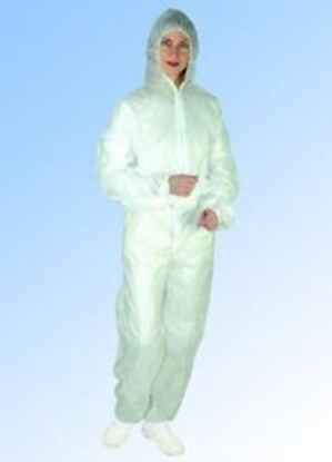 Slika Disposable Protective Suits with Hood, PP