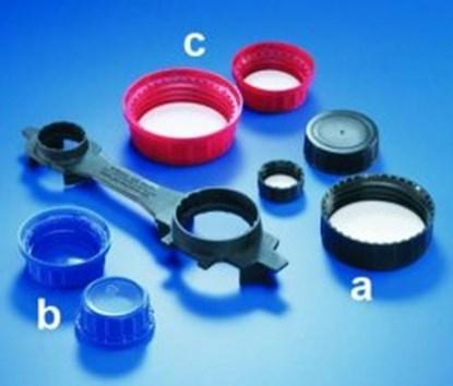 Slika Caps for wide-mouth reagent bottles, PP (melamine*)