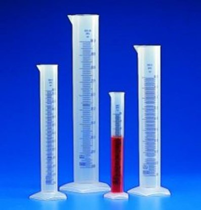 Slika Graduated cylinders, PP, class B, embossed scale