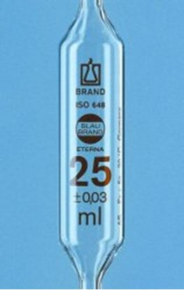 Slika Volumetric pipettes, AR-glas<SUP>&reg;</SUP>, class AS, 1 mark, amber graduation