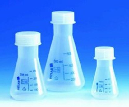 Slika Erlenmeyer flasks with screw neck, PP