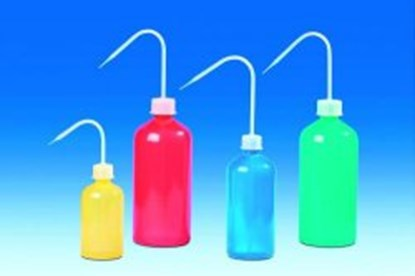 Slika Coloured wash-bottles, narrow-neck, PE- LD/PP
