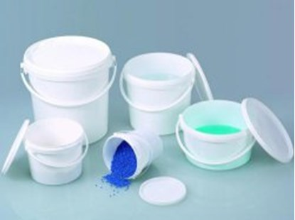Slika Buckets white with lid, PP