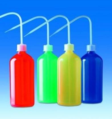 Slika Coloured wash-bottles, narrow-neck, PE- LD/PP