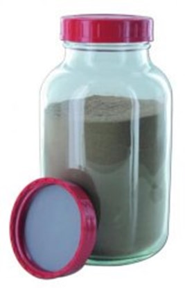 Slika AMBER GLASS WIDE MOUTH BOTTLES