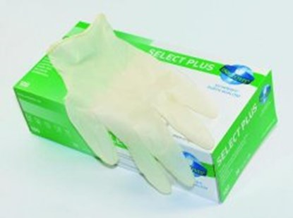 Slika Disposable Gloves Select Plus, Latex, Powder-Free