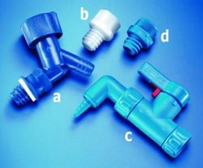 Slika ADAPTER, LDPE, BLUE