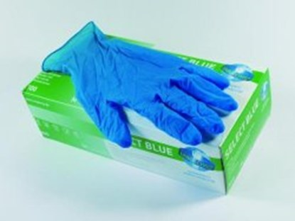 Slika Disposable Gloves Select Blue, Latex