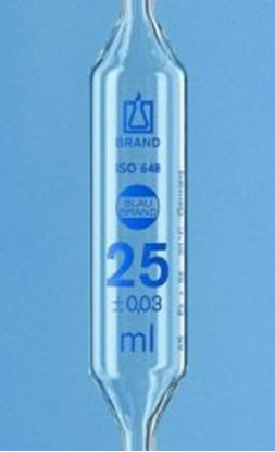 Slika Volumetric pipettes, AR-glas<SUP>&reg;</SUP>, class AS, 2 marks, blue graduation