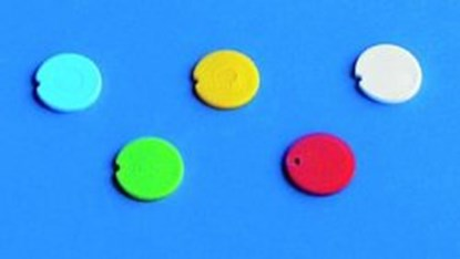 Slika Colored cap inserts, PP, for reaction tubes