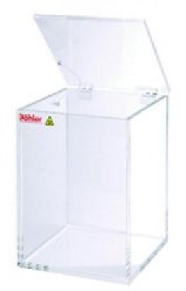 Slika Beta-waste containers, clear acrylic