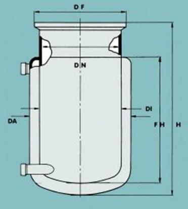 Slika Flat ground flange reaction vessels, jacketed