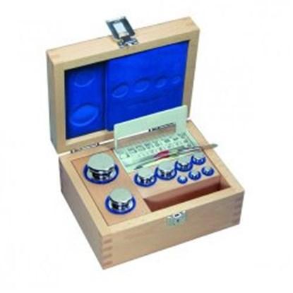 Slika Weight set E2, cylindrical shape, with wooden box