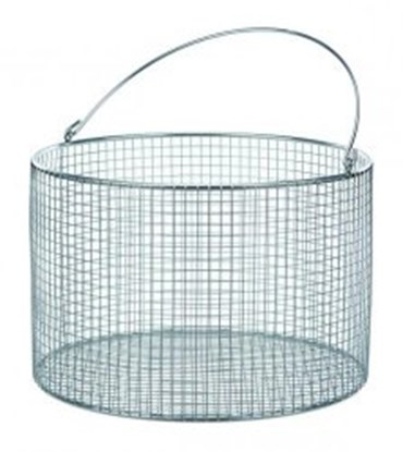 Slika Wire baskets with handle, round, stainless steel